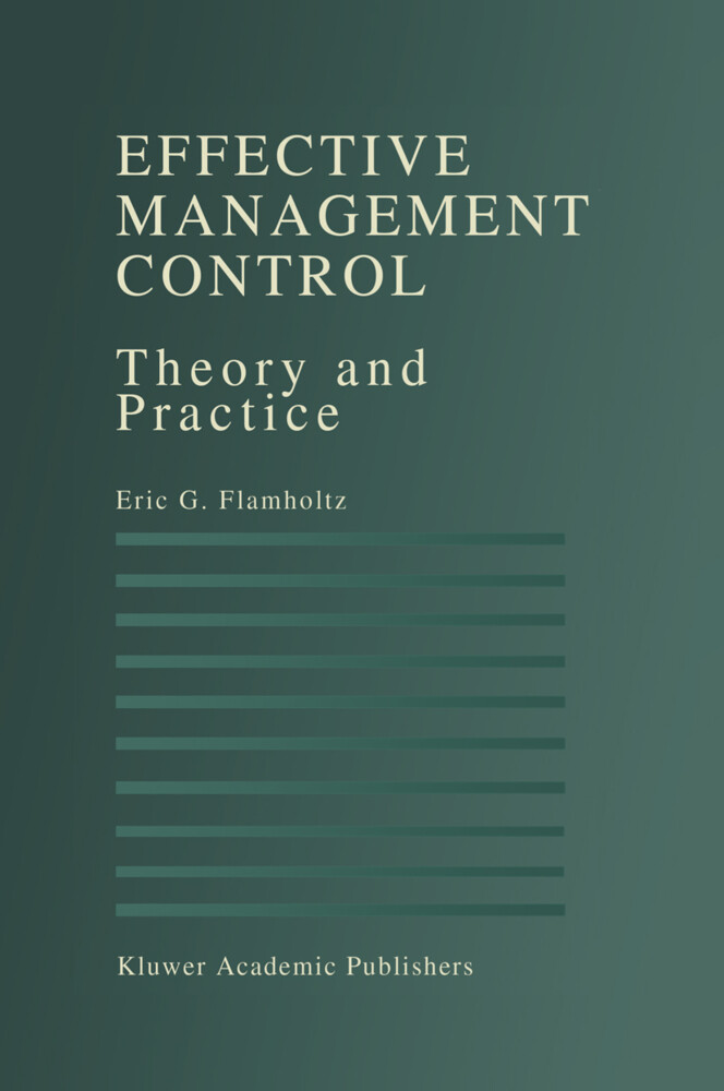 Effective Management Control als Buch