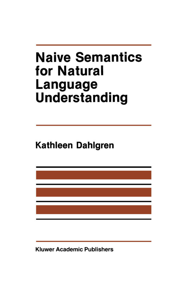 Naive Semantics for Natural Language Understanding als Buch