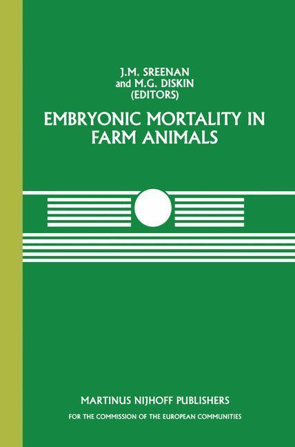 EMBRYONIC MORTALITY IN FARM AN als Taschenbuch