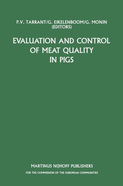 Evaluation and Control of Meat Quality in Pigs als Buch