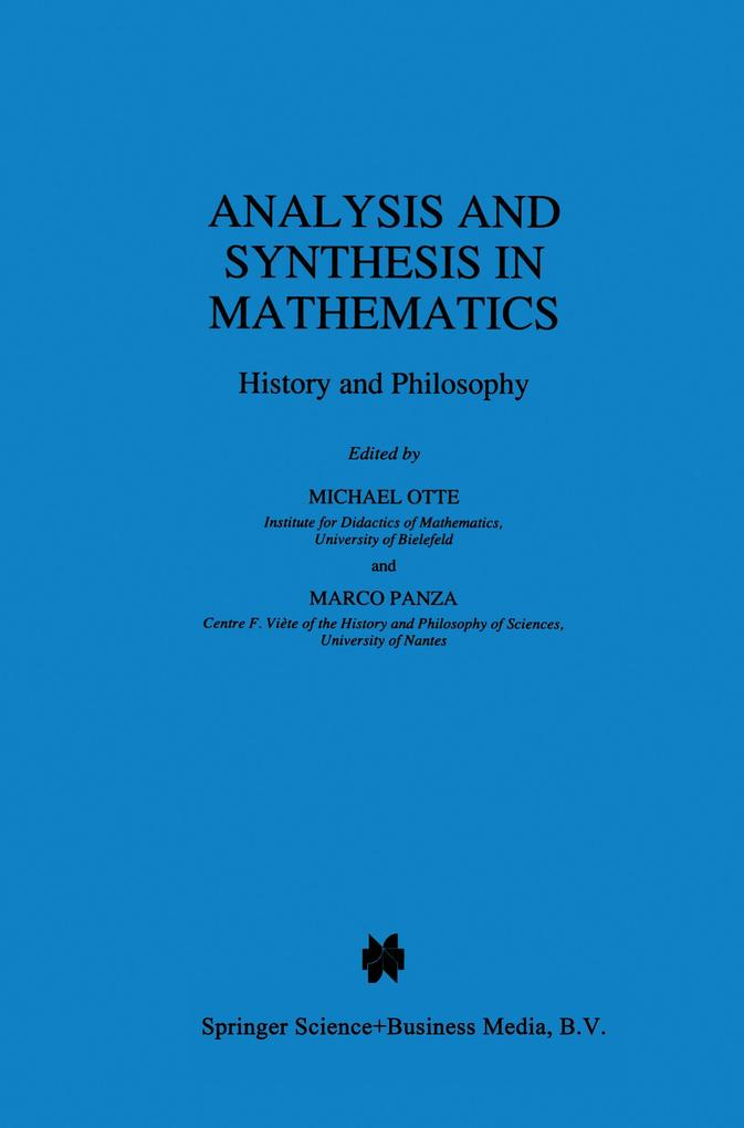 Analysis and Synthesis in Mathematics als Buch
