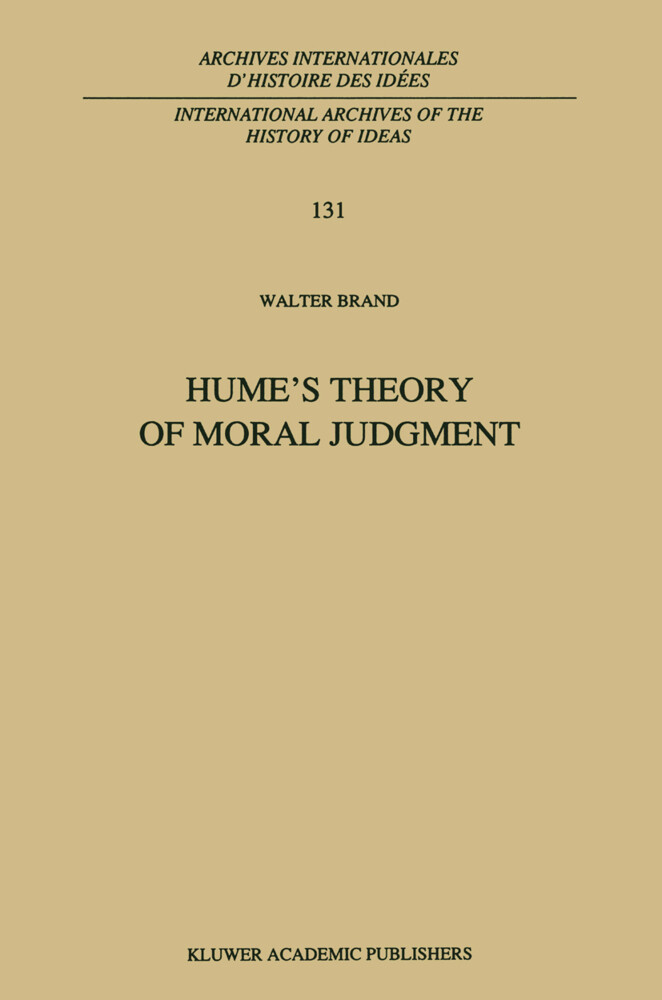 Hume's Theory of Moral Judgment als Buch