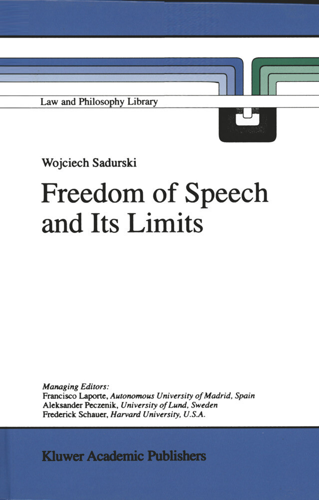 Freedom of Speech and Its Limits als Buch