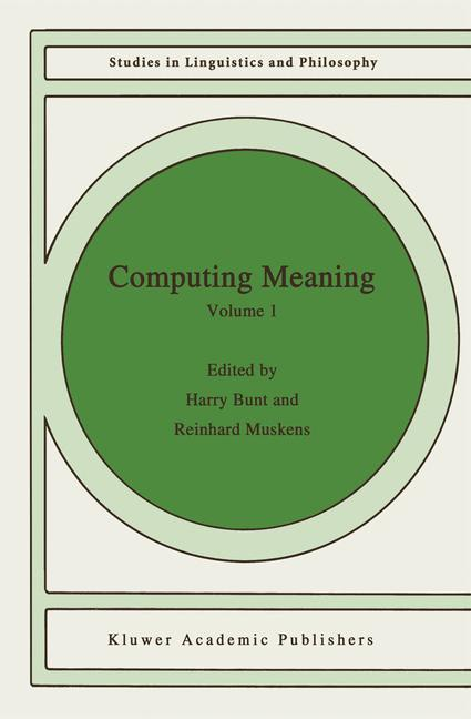 Computing Meaning als Buch