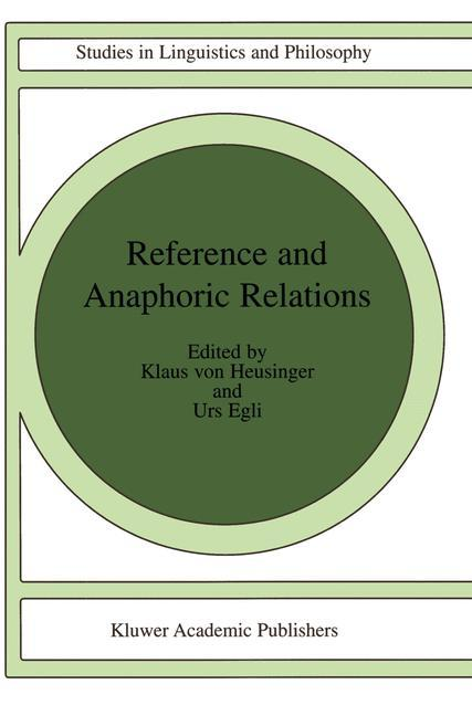 Reference and Anaphoric Relations als Buch