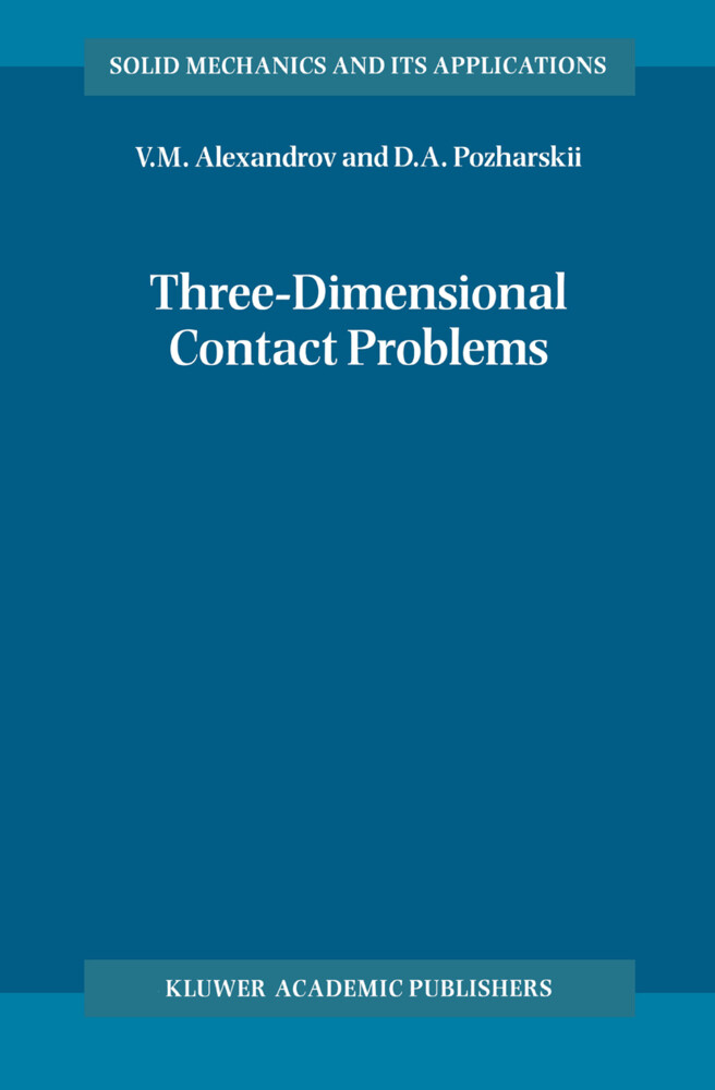 Three-Dimensional Contact Problems als Buch