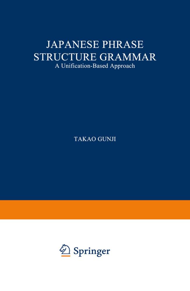 Japanese Phrase Structure Grammar als Buch