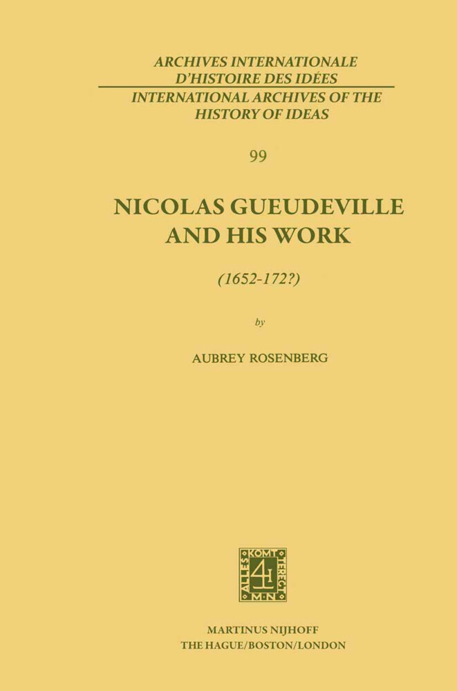 Nicolas Gueudeville and His Work (1652-172?) als Buch (gebunden)