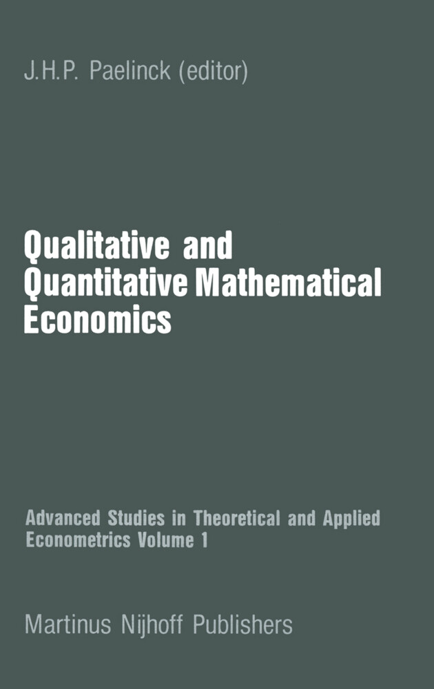 Qualitative and Quantitative Mathematical Economics als Buch