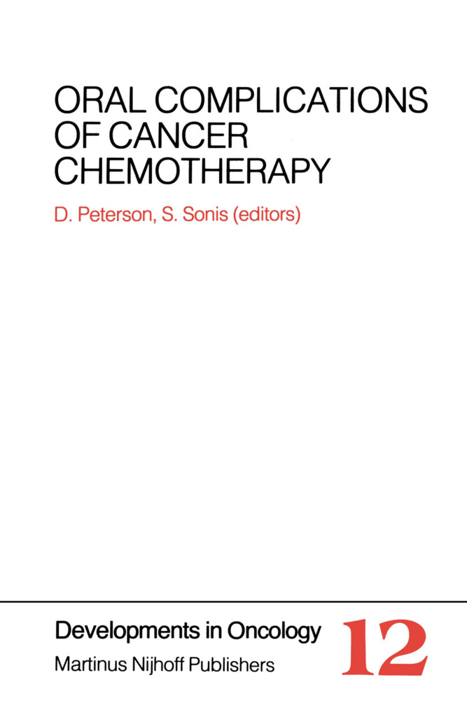 Oral Complications of Cancer Chemotherapy als Buch