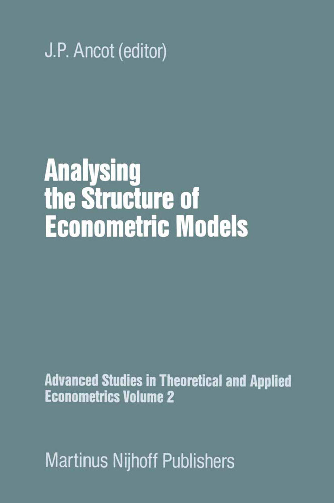 Analysing the Structure of Economic Models als Buch