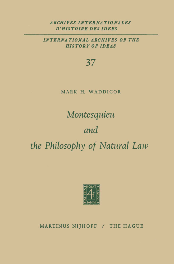 Montesquieu and the Philosophy of Natural Law als Taschenbuch