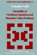 Solvability of Nonlinear Equations and Boundary Value Problems als Buch