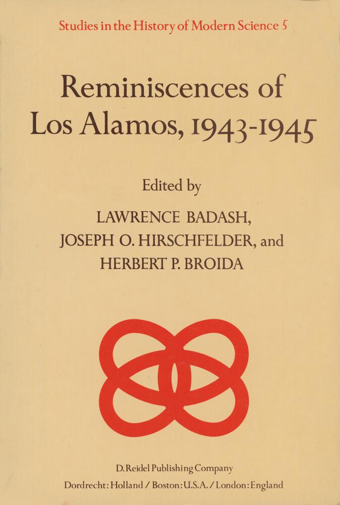 Reminiscences of Los Alamos 1943-1945 als Buch