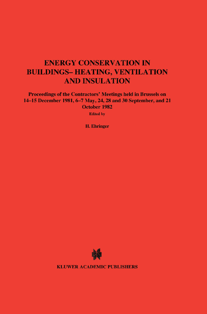 Energy Conservation in Buildings Heating, Ventilation and Insulation als Buch