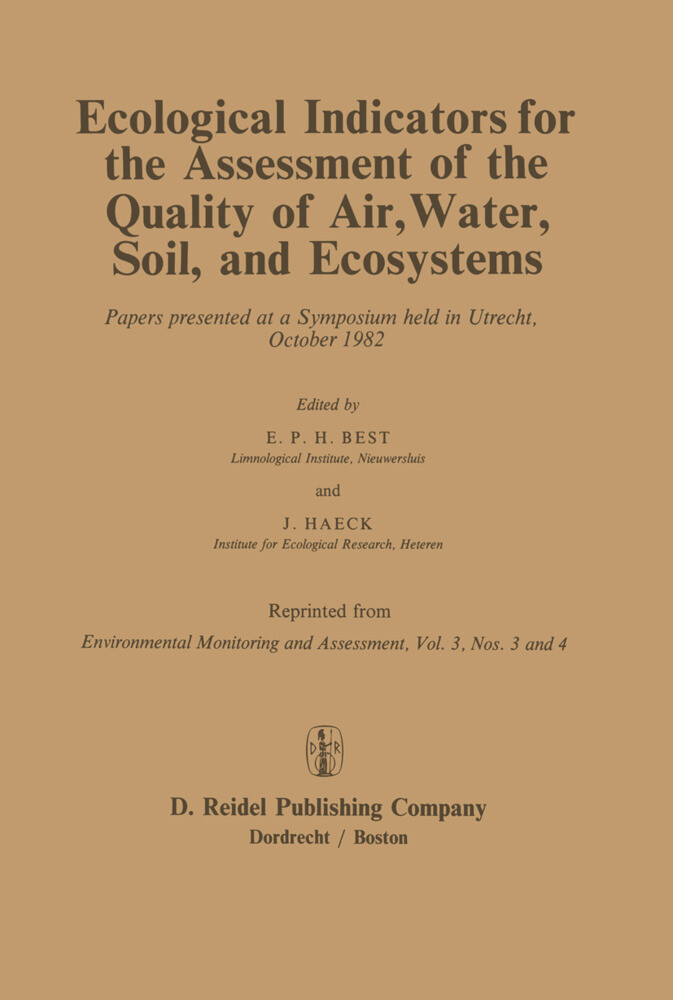 Ecological Indicators for the Assessment of the Quality of Air, Water, Soil, and Ecosystems als Buch