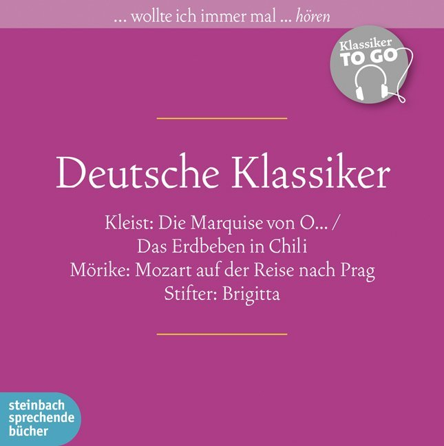 Deutsche Klassiker als Hörbuch CD