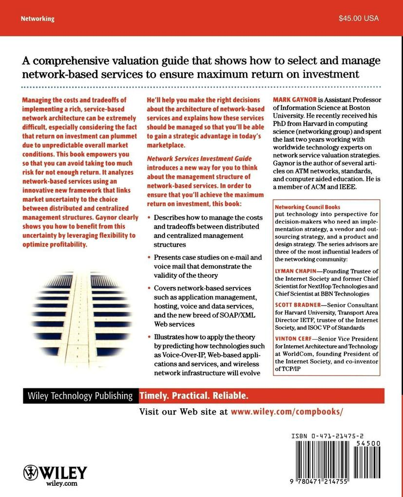 Network Services Investment Guide: Maximizing Roi in Uncertain Times als Taschenbuch