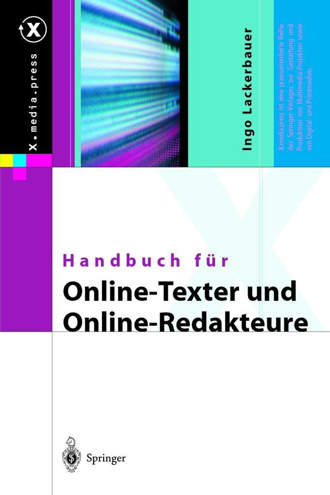 Handbuch für Online-Texter und Online-Redakteure als Buch