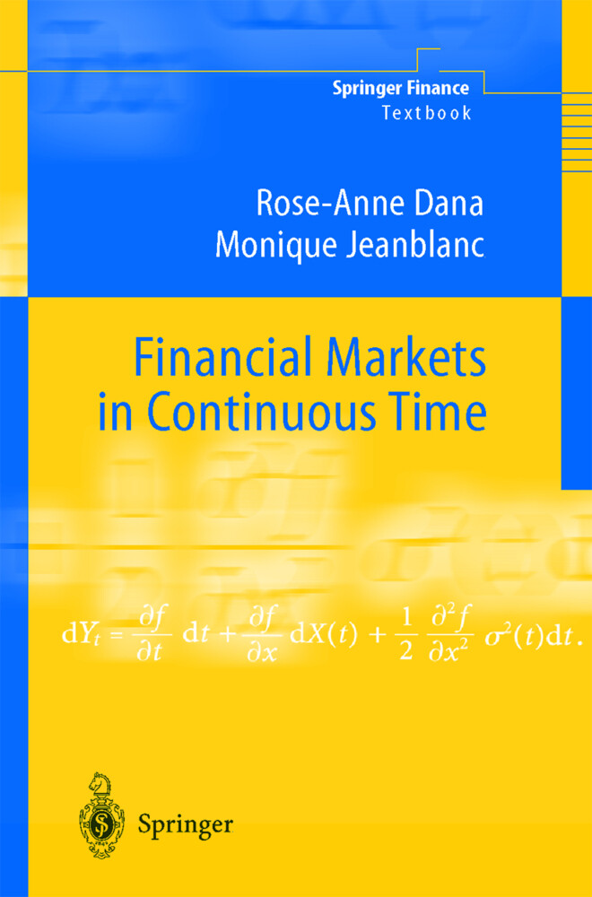 Financial Markets in Continuous Time als Buch
