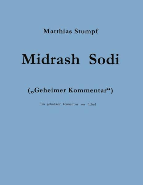 Midrash Sodi als Buch