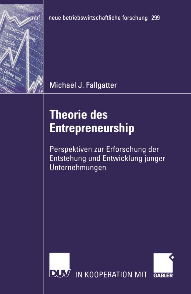 Theorie des Entrepreneurship als Buch