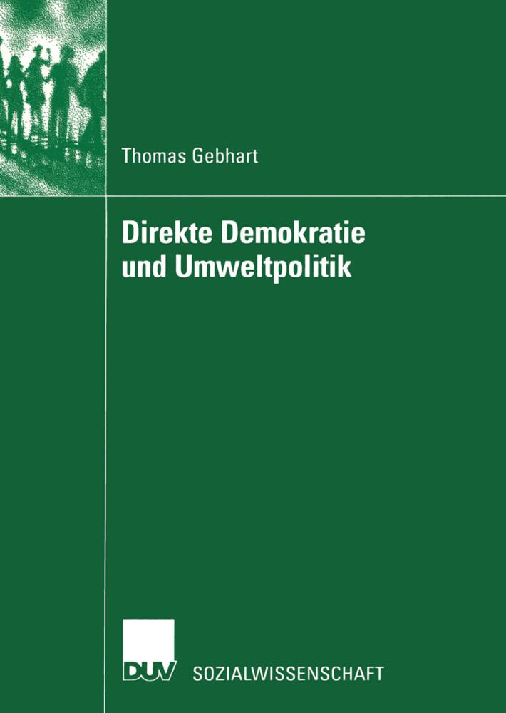 Direkte Demokratie und Umweltpolitik als Buch