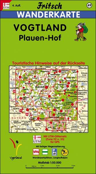 Vogtland 1 : 50 000. Fritsch Wanderkarte als Buch