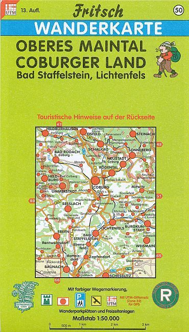 Oberes Maintal, Coburger Land 1 : 50 000. Fritsch Wanderkarte als Buch
