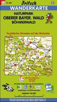 Naturpark Oberer Bayerischer Wald / Böhmerwald 1 : 50 000. Fritsch Wanderkarte als Buch