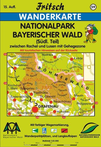 Nationalpark Bayerischer Wald 1 : 35 000. Fritsch Wanderkarte als Blätter und Karten