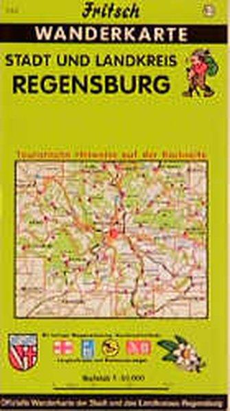 Stadt und Landkreis Regensburg 1 : 50 000. Fritsch Wanderkarte als Buch