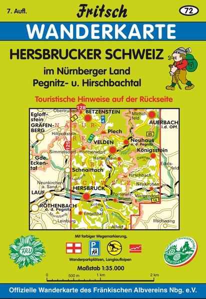 Hersbrucker Schweiz in der Frankenalb 1 : 35 000. Fritsch Wanderkarte als Buch