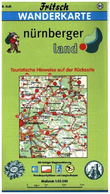 Frankenalb im Nürnberger Land 1 : 50 000. Fritsch Wanderkarte als Buch