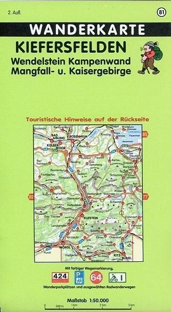 Kiefersfelden, Wendelstein, Kampenwand, Mangfall- und kaisergebirge 1 : 50 000. Fritsch Wanderkarte als Buch