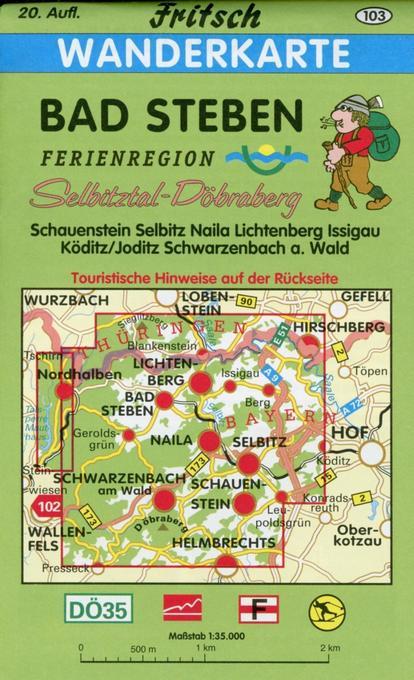 Bad Steben 1 : 35 000. Fritsch Wanderkarte als Buch