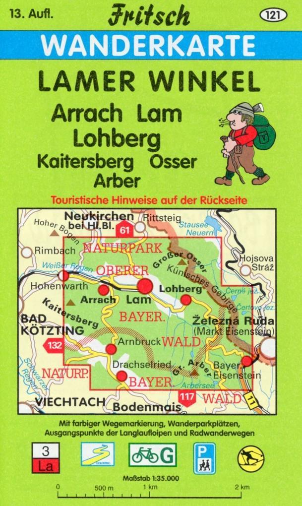 Lamer Winkel 1 : 35 000. Fritsch Wanderkarte als Buch