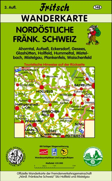 Nordöstliche Fränkische Schweiz 1 : 35 000. Fritsch Wanderkarte als Buch