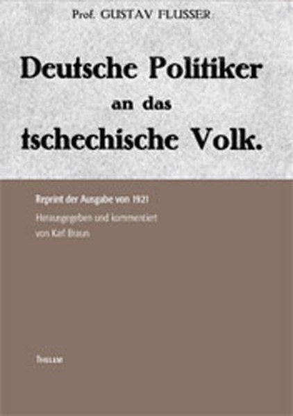 Deutsche Politiker an das tschechische Volk als Buch