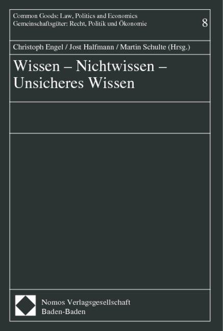 Wissen - Nichtwissen - Unsicheres Wissen als Bu...