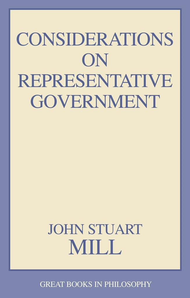 Considerations on Representative Government als Taschenbuch