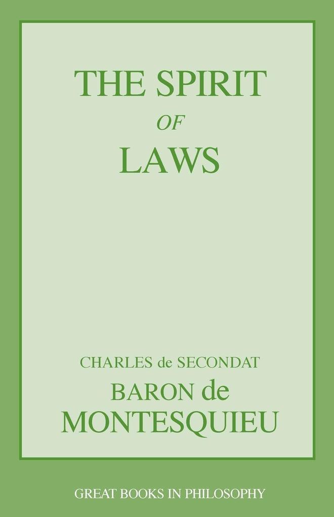 The Spirit of Laws als Taschenbuch