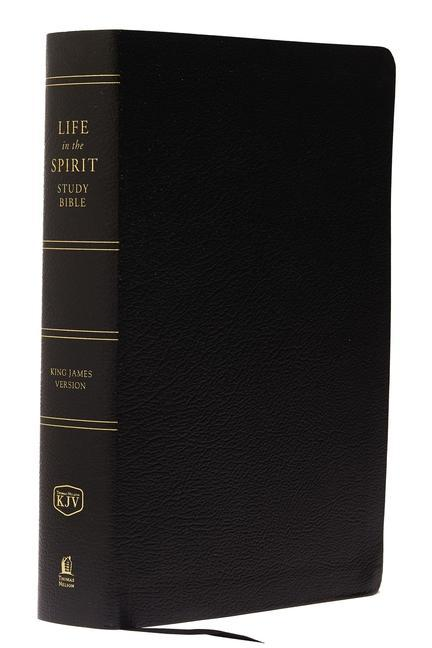 KJV, Life in the Spirit Study Bible, Bonded Leather, Burgundy, Indexed, Red Letter Edition als Buch