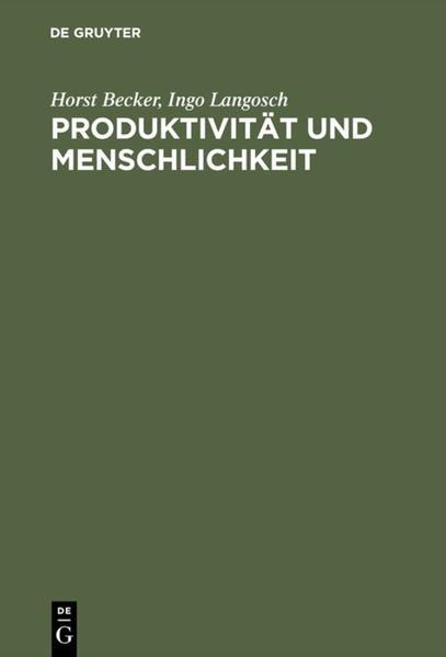 Produktivität und Menschlichkeit als Buch