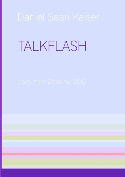 TALKFLASH als Buch