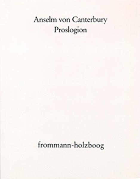 Proslogion als Buch