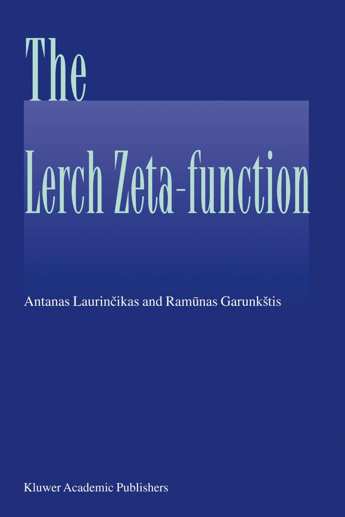 The Lerch zeta-function als Buch
