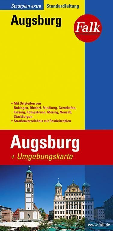 Falk Stadtplan Extra Standardfaltung Augsburg als Buch
