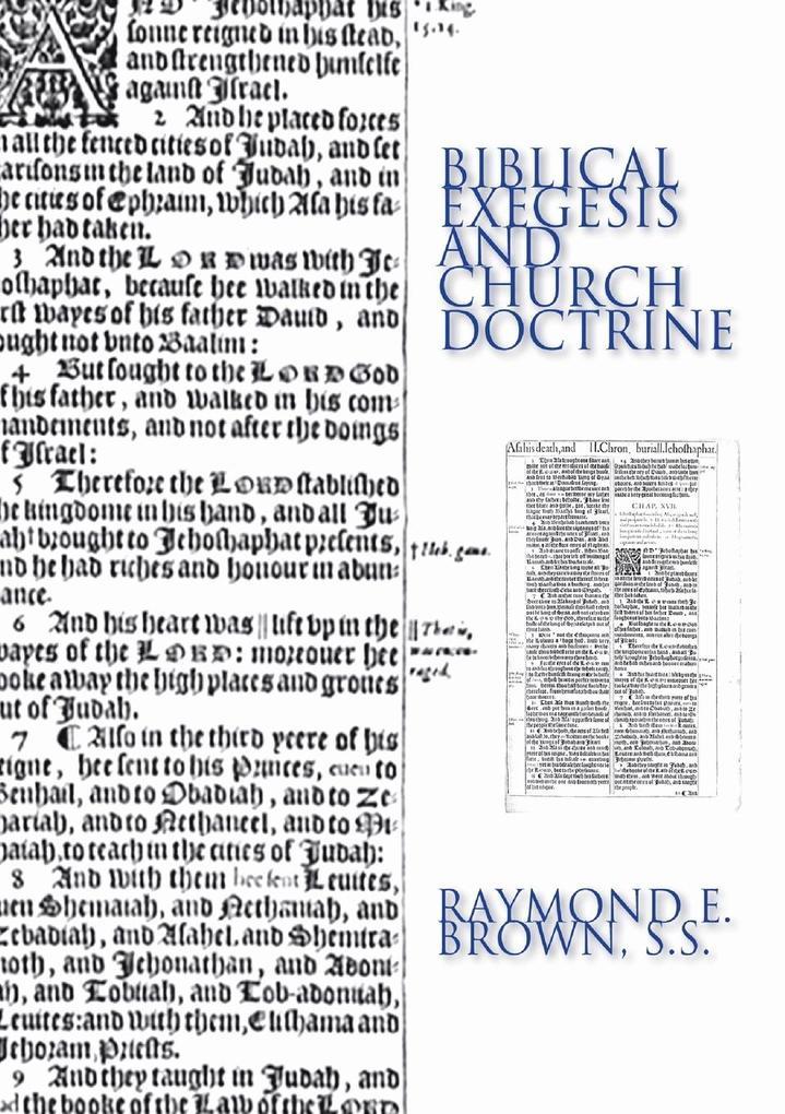Biblical Exegesis & Church Doctrine als Taschenbuch