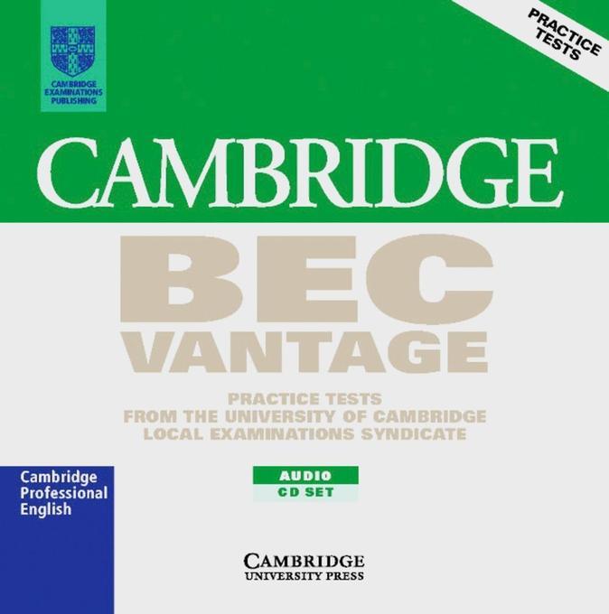 Cambridge BEC. Vantage. 2 CDs als Hörbuch